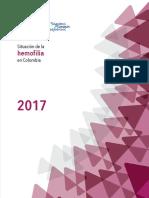 Libro Situacion Hemofilia en Colombia 2017