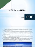 Apa in Natura Clasa 9