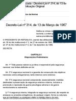 Decreto-Lei Nº 314, De 13 de Março de 1967 - Publicação Original - Portal Câmara Dos Deputados