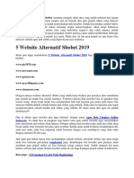 5 Website Alternatif Sbobet 2019
