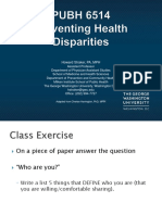 Preventing Health Disparities Class One -Intro Spring 18(1)