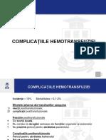 Hemotransfuzii 2 Complicații