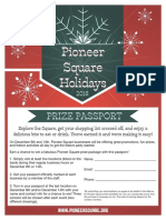 2018 Pioneer Square Holidays Passport