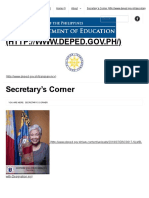 Secretary's Corner _ Department of Education 2018