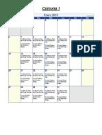 Calendario-Vamos Las Plazas - 2019