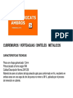Detalles CUBREMUROS / VERTEAGUAS / DINTELES METALICOS