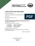 Constancia de Morador