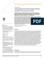 A Re-Appraisal of the Early Andean Human Remains from Lauricocha in Peru