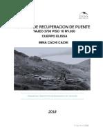 Informe de Recuperacion de Puente Tj 3700 Elisa