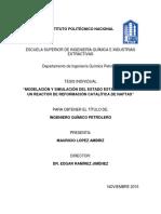 Modelación y simulación del estado estacionario de un reactor de reformación catalitica de naftas.pdf