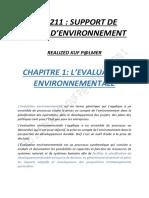 Geo 211 Support de Cours d'Environnement