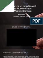 Ley para el Control del Tabaco y los efectos en los derechos Medio Ambientales.