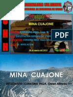 Mina Cuajone Superado