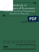 (Classics in Applied Mathematics, 37) Joel N. Franklin-Methods of Mathematical Economics_ Linear and Nonlinear Programming, Fixed-Point Theorems (Classics in Applied Mathematics, 37)-Society for Indus