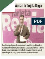 06-12-18 Presenta Adrián la Tarjeta Regia