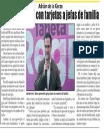 06-12-18 Adrián de la Garza Promete apoyar con tarjetas a jefas de familia