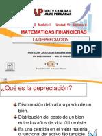 Semana 8 La Depreciacion-2018