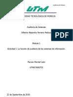 Aditoria de Sistemas - Montiel