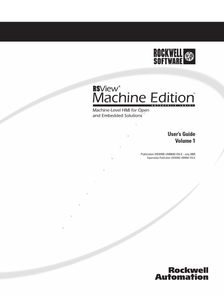 RSView ® Machine Edition™ [User's Guide Volume 1