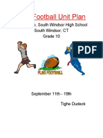flag football unit plan