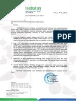 Surat Optimalisasi Sistem Rujukan Online