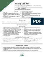 Sample Research Internship Resume