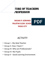 Nature of Teaching Profession