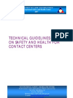 Technical Guidelines on OSH for Contact Centers