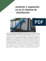 Almacenamiento y Regulación de Agua en El Sistema de Distribución