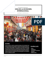 CHINA EN LA ECONOMÍA  INTERNACIONAL