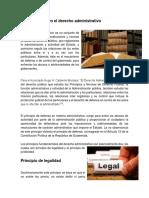Los Principios en El Derecho Administrativo