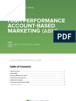 High Performance ABM Best Practices Guide