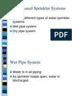 Water Based Sprinkler Systems