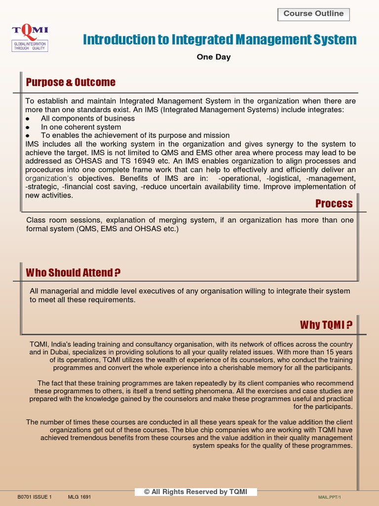 6  Integrated Management System | Quality Management | Economies