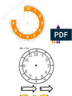 plantillas de relojes analógicos