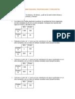 EJERCICIOS SOBRE RAZONES, Porcientos y Porcentajes