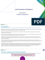 Financial Innovation Lab Malaysia, First Cohort Problem Statements