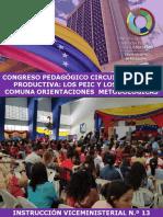 Instruccion Nº13 Congreso Pedagogico Circuital