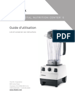 Melangeur Vitamix 5200 Total Nutrition Center Guide de l Utilisateur