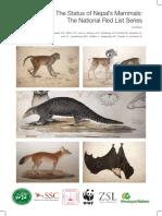 The Status of Nepal's Mammals - Red List