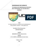 El Riesgo Crediticio y Su Impacto en Copac Andrely Huanuco - Tingo Maria 2018
