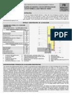 F8 SOLUCION CONSTRUCTIVA MURO TABIQUERIA MADERA+LANA FIBRA DE VIDRIO