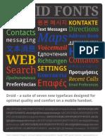 Google Droid Fonts