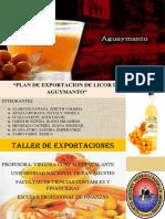 Esportación Licor de Aguaymanto