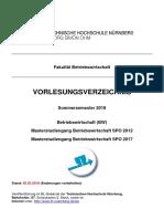 Vorlesungsverzeichnis M-BW