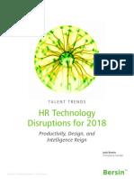 HRTechDisruptions2018 Report 100517