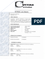 Curriculum Luis Alberto