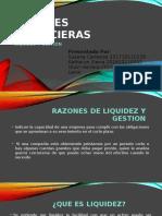 Razones Financieras Liquidez y Gestion