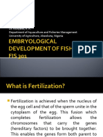 463_fis 301- Embryological Development of Fish