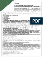 Constitución Política Del Perú y Del Estado Peruano